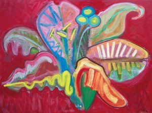 """Flower 3"" 2014 Oil on canvas. 150 x 200 cm. 59.1 x 78,7 in."