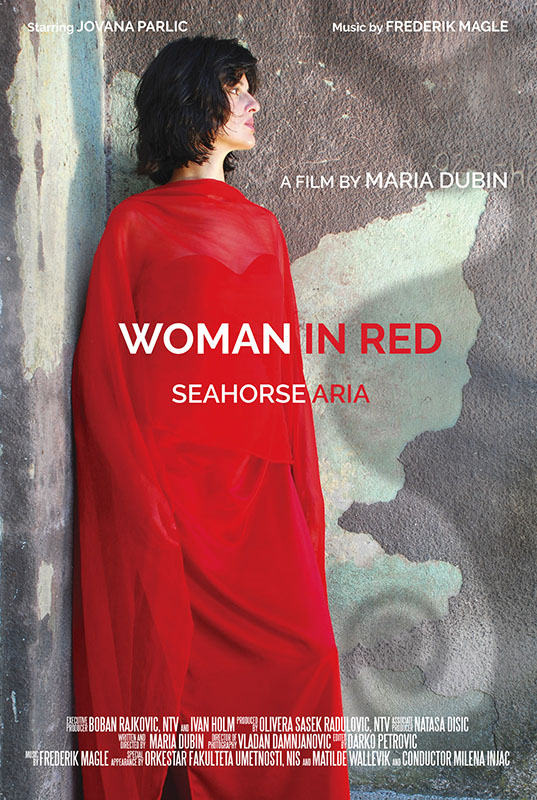 Woman in Red Seahorse Aria